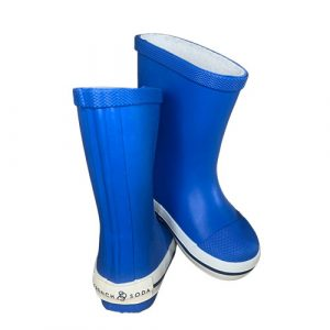 Kids' Rubber Gumboot in Blue - French Soda