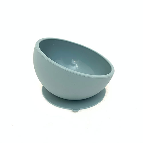 Silicone Dusty Blue Suction Bowl for Babies | Buy now