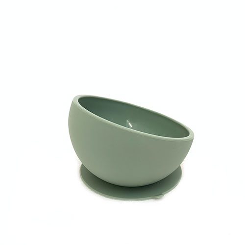 Silicone Suction Bowl Dusty Olive for Babies | Shop now